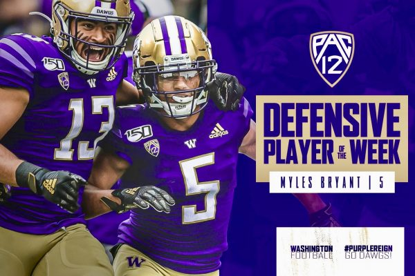 Myles Bryant Earns Pac-12 Defensive Player of The Week Award